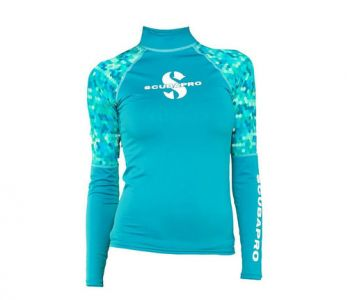 Scubapro UPF 50 T-Flex Long Sleeve Rash Guard Women Caribbean
