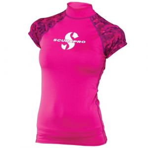 Scubapro UPF 50 T-Flex Cap Sleeve Rash Guard Jewel