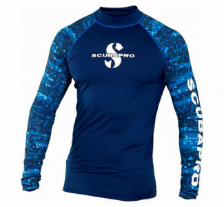 Scubapro UPF 50 Long Sleeve Rash Guard Men Aegean